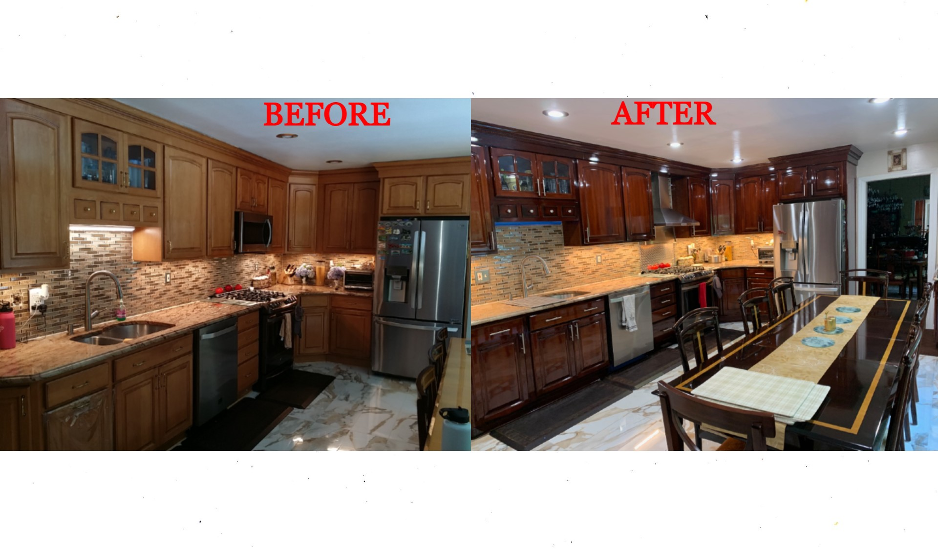 Kitchen Cabinet Painting Before And After Kitchen Cabinet Refinishing Before And After Spray Painting Kitchen Cabinets Before And After Http Kitchencabinet Painter Com Gallery Before After